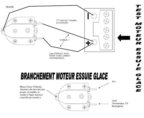 notice montage moteur essuie glace